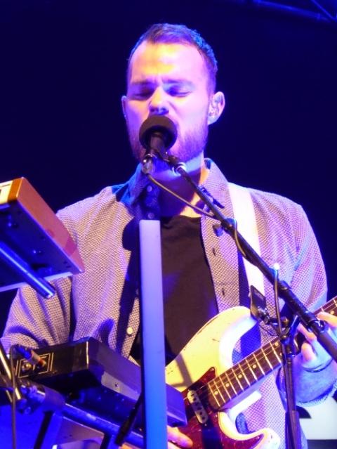Asgeir on guitar